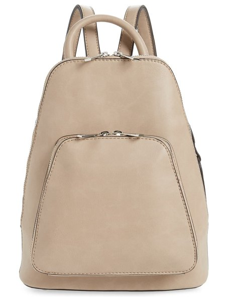 Sole Society aushan faux leather backpack in beige