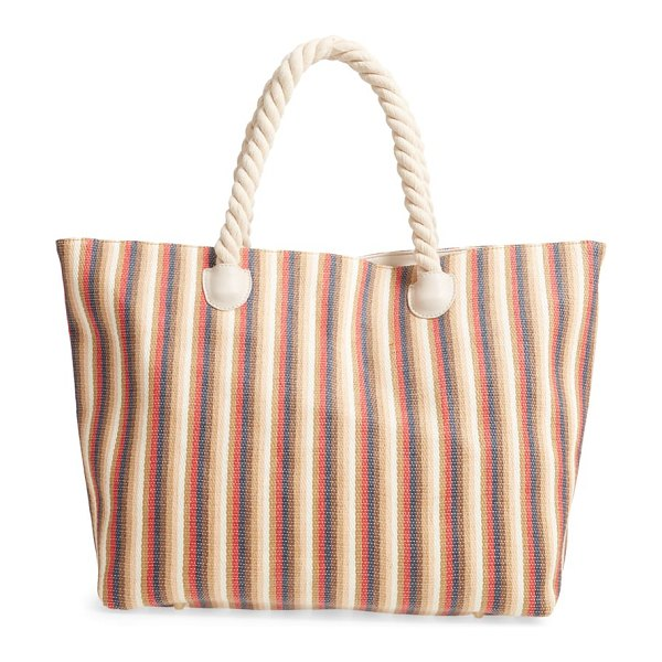 Sole Society berry stripe tote in pink
