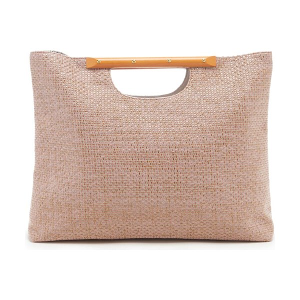 Sole Society bess woven tote in pink