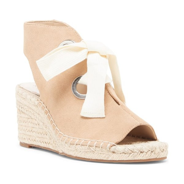 Sole Society cambrine lace-up wedge espadrille sandal in beige