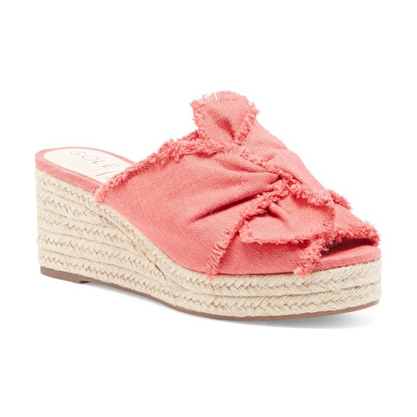 Sole Society carima espadrille wedge in coral