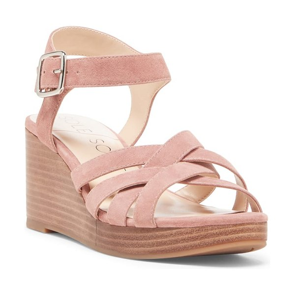 Sole Society cattah wedge sandal in pink