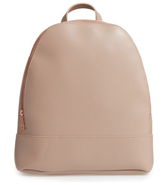 SOLE SOCIETY chester faux leather backpack - A cleanly styled, boxy backpack that's just the thing...