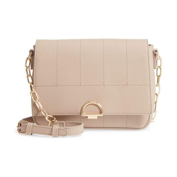Sole Society colie faux leather crossbody bag in taupe - Tonal stitching and polished hardware make this...