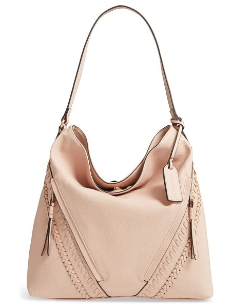 Sole Society destin 2 faux leather hobo bag in pink