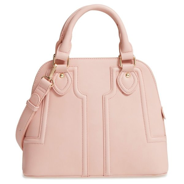 Sole Society dome satchel in blush - Supple leather construction accentuates the vintage-chic...