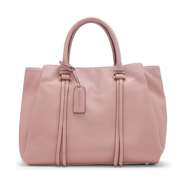 Sole Society eban faux leather satchel in pink