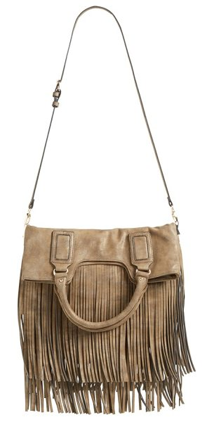 SOLE SOCIETY Foldover fringe tote - Tiered fringe adds flirty, fun movement with every step...