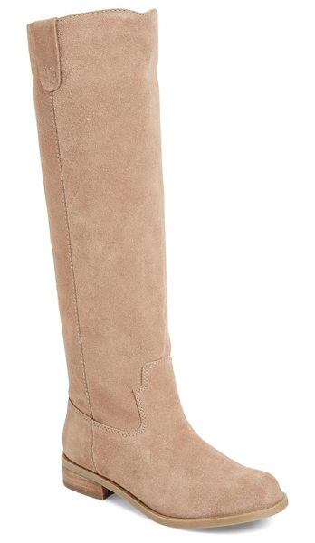 Sole Society hawn knee high boot in taupe suede - Inspired by classic Western styles, this knee-high boot...
