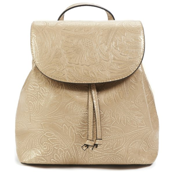 Sole Society hawna faux leather backpack in beige