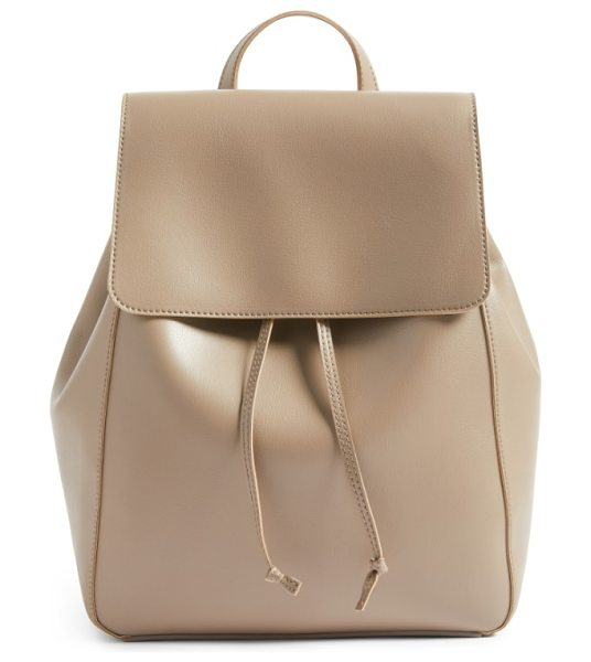 Sole Society ivan faux leather backpack in taupe - With its just-right size and soft, durable construction,...