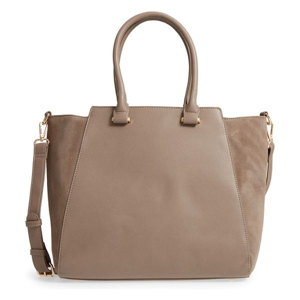 SOLE SOCIETY 'jeanine' satchel - A structured and slightly flared silhouette enhances the...