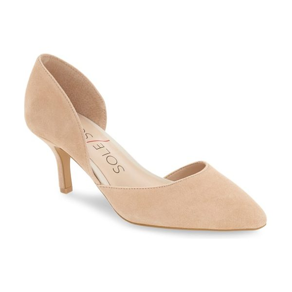 Sole Society 'jenn' pointy toe pump in light camel suede - Make the most of your wardrobe with this...