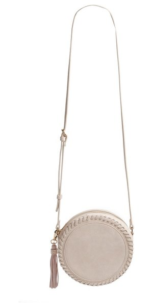 Sole Society josa crossbody bag in powder blush - Tonal whipstitching defines a shimmering, faux-leather...