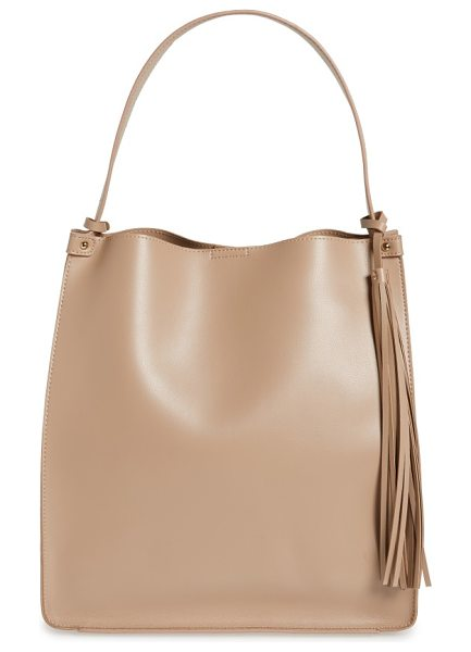 SOLE SOCIETY karlie faux leather bucket bag - Modern minimalism defines a spacious faux-leather bucket...