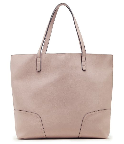 Sole Society lilyn faux leather tote in pink
