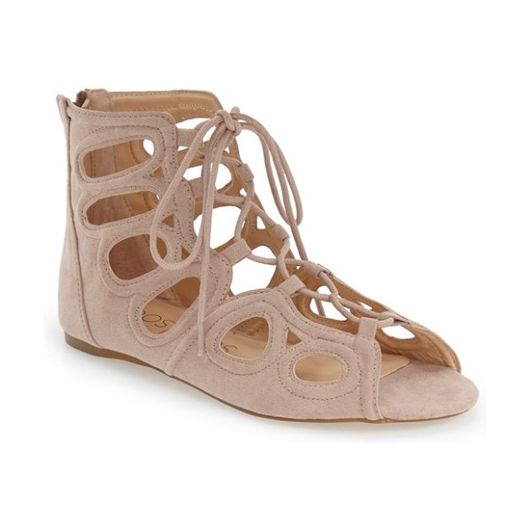 Sole Society makena gladiator sandal in antique rose/ pink