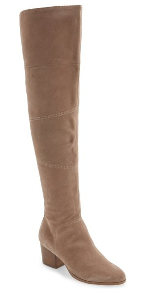 Sole Society melbourne over the knee boot in night taupe suede - This streamlined, sueded over-the-knee boot goes the...