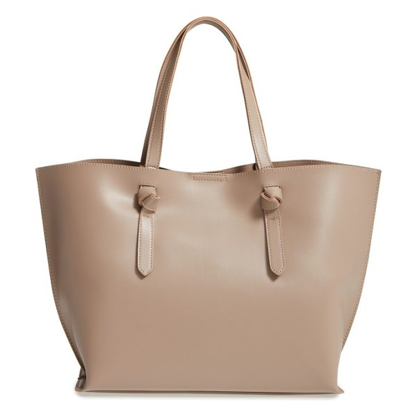 Sole Society neva tote in taupe - Knotted handles underscore the sophisticated, minimalist...