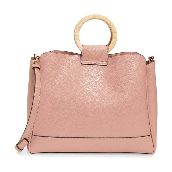 Sole Society nicoh faux leather satchel in pink