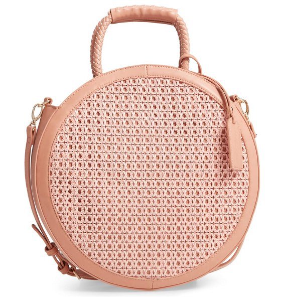 Sole Society nikole faux leather circle tote in pink