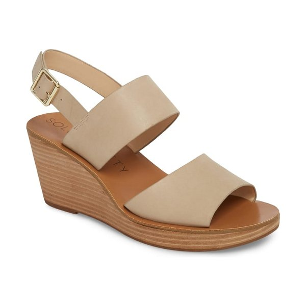 Sole Society pavlina platform wedge sandal in brown