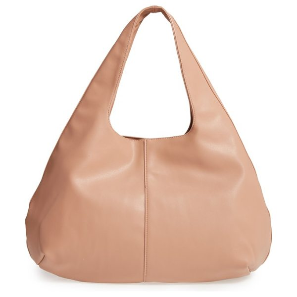 SOLE SOCIETY rouge faux leather hobo - For a totally on-trend look that won't break the bank,...