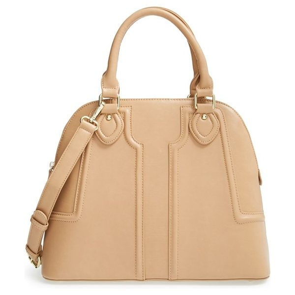 SOLE SOCIETY Marlow structured faux leather dome satchel - Raised channel quilting and rolled handles detail a...