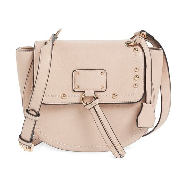 Sole Society studded faux leather crossbody bag in blush - Gleaming studs and hardware highlight the fashionable...