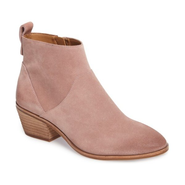 SOLE SOCIETY vixen bootie - A shapely bootie with a trim almond toe is detailed with...