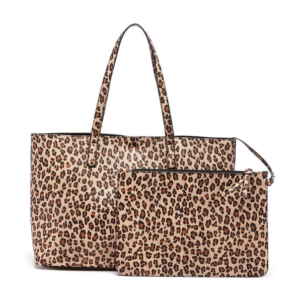 Sole Society zeda faux leather tote in beige