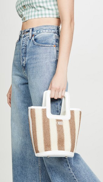 Solid & Striped the pookie tote in sand/white