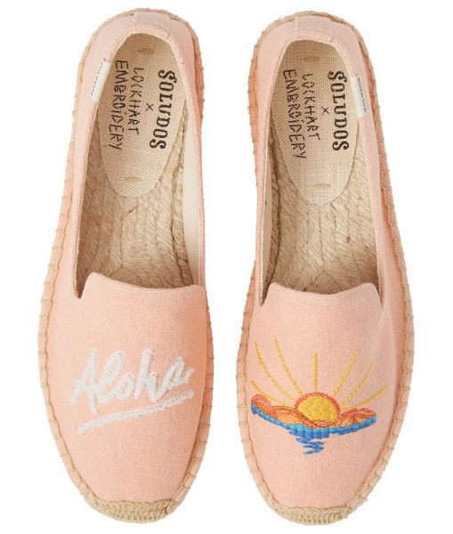 Soludos aloha espadrille slip-on in coral