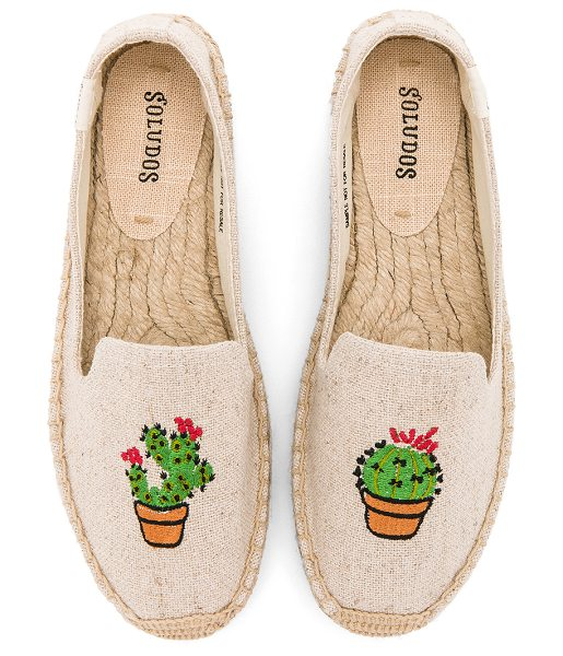 "SOLUDOS Cactus Platform - ""Canvas upper with man made sole. Slip-on styling...."