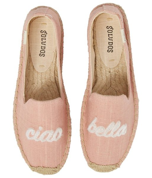 Soludos ciao bella espadrille flat in pink - Look completely chic while wearing this espadrille...