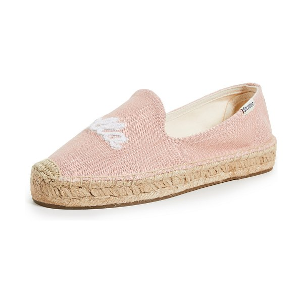 Soludos ciao bella smoking slippers in dusty rose