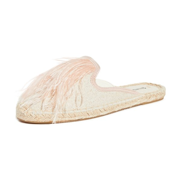 Soludos feathers mules in sand