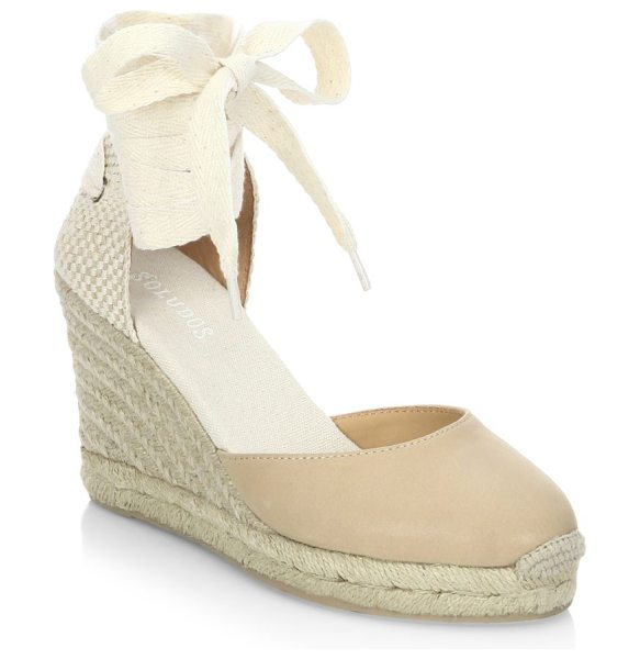 Soludos gladiator tall wedge sandals in nude - Retro-inspired wedge sandals for effortless chic style....