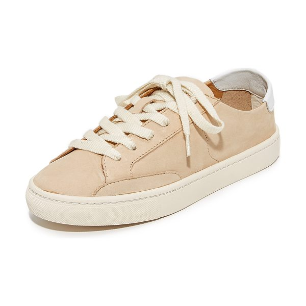 Soludos ibiza classic lace up sneakers in nude - Sporty Soludos sneakers crafted in luxe nubuck. Contrast...