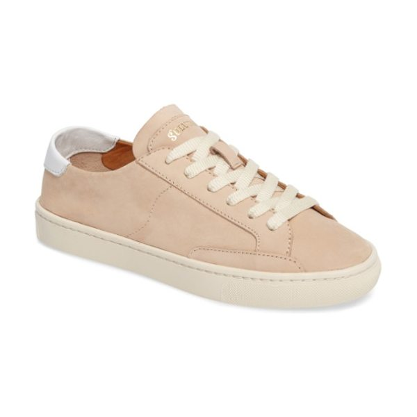 Soludos ibiza sneaker in beige - A low-top sneaker with a smooth leather upper serves as...
