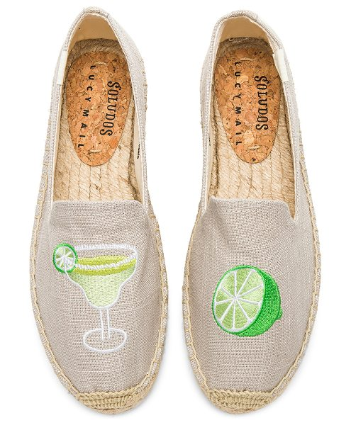 "SOLUDOS Margarita Platform Smoking Slipper - ""Canvas upper with man made sole. Slip-on styling...."