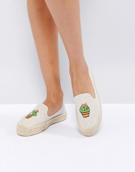 Soludos Natural Cactus Double Platform Espadrilles in beige - Espadrilles by Soludos, Canvas upper, Cactus detail,...