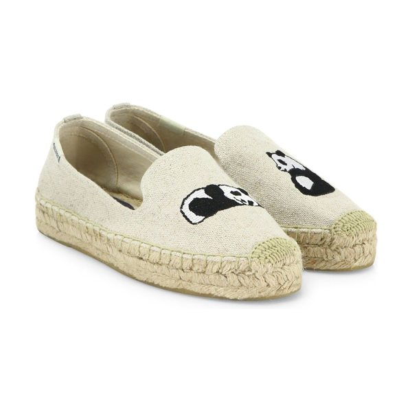 Soludos panda canvas platform espadrilles in sand - From the Jason Polan for Soludos Collaboration...