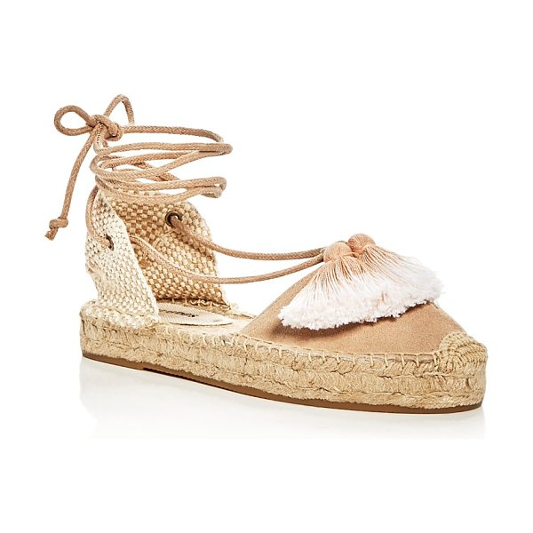 Soludos Women's Gladiator Tassel Lace Up Platform Espadrilles in cream - Soludos Women's Gladiator Tassel Lace Up Platform...