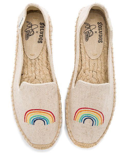 "SOLUDOS x Ashkahn Rainbow Platform Smoking Slipper - ""Canvas textile upper with man made sole. Slip-on..."