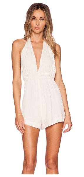Somedays Lovin Blessings halter playsuit in blush - Poly blend. Halter strap ties around neck. Elastic...