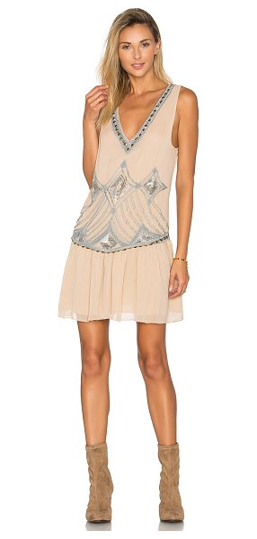 Somedays Lovin Chloe Sequin Dress in tan - Poly blend. Fully lined. Bead and sequin embellishment....