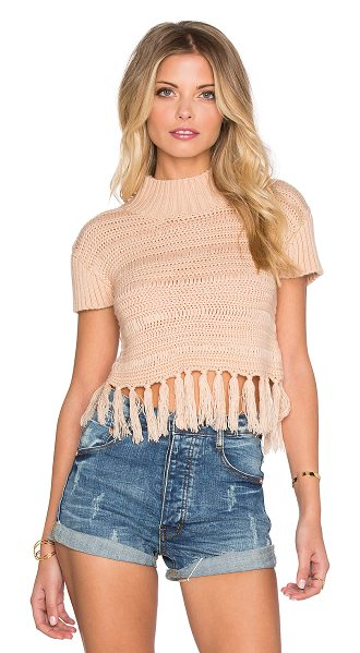 SOMEDAYS LOVIN High hopes knit top - 100% acrylic. Dry clean only. Fringe trim. SLOV-WS37....