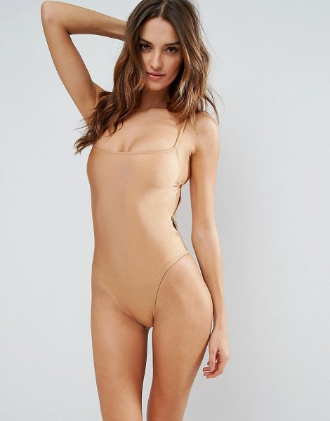 "Somedays Lovin Open Side Swimsuit in brown - """"Swimsuit by Somedays Lovin, Plain swim fabric, Scoop..."
