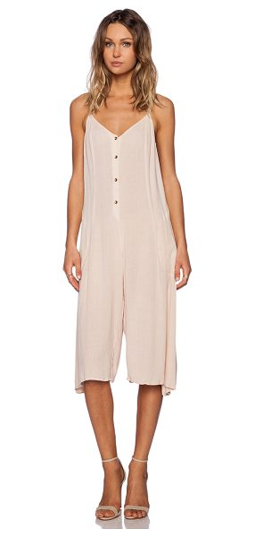 Somedays Lovin Spell cast midi jumpsuit in cream - Cotton blend. Adjustable shoulder straps. Button front...